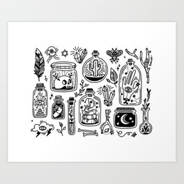The Tiny Witch Gallery Art Print