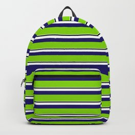 Green Stripes of Spring Backpack