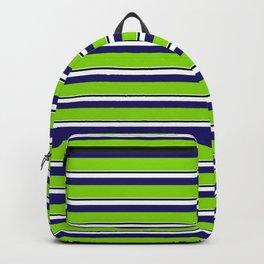 Green Stripes of Spring Backpack