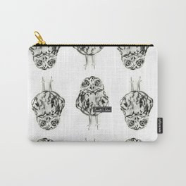 Owl Sketch Black & White Carry-All Pouch