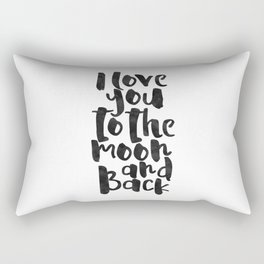 nursery wall art,i love you to the moon and back,kids gift,love sign,children decor,quote prints Rectangular Pillow