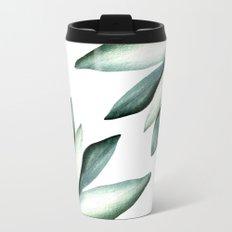 Tropical white pattern Metal Travel Mug