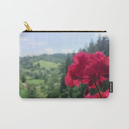 Geranium outside the window photography Carry-All Pouch