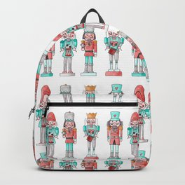 Nutcracker Watercolor and Ink Pattern Backpack
