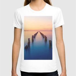 Old Pier Remains In Clifton Springs Victoria Australia Ultra HD T-shirt