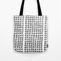 music notes Tote Bags featuring MUSIC Notes  by Geryes