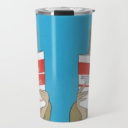 Audrey Hepburn in Breakfast at Tiffany's Travel Mug