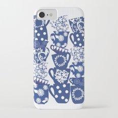 blue teacups iPhone 7 Slim Case