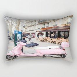 Paris Scooter Rectangular Pillow