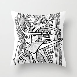 Unreality Tango - popcore 05 Throw Pillow