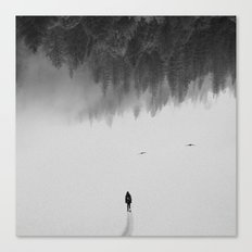 Silent Walk - B&W version Canvas Print