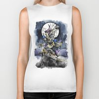 nightmare before christmas Biker Tanks featuring The nightmare before christmas by Sandra Ink