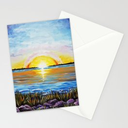 Sunset Over Broad Bay Stationery Cards
