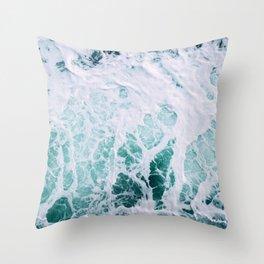 Ocean Splash III Throw Pillow