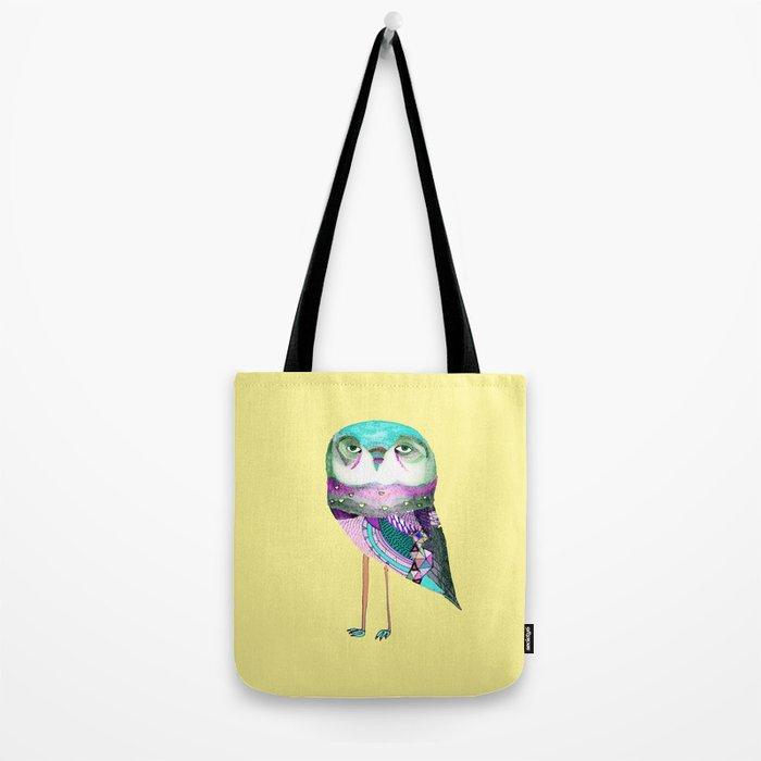 Owl Print Tote Bag