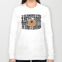 misfits Long Sleeve T-shirts featuring Last Bagel Caress by Chris Piascik