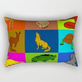 Desert animals pop art Rectangular Pillow