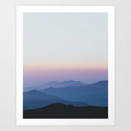 Sunset in the Annapurnas Art Print
