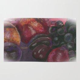 Pastel - Fruit Still Life Rug