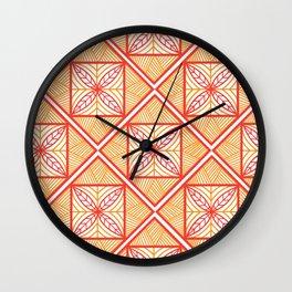 Orange UrbaNesian Siapo Wall Clock
