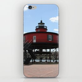 Seven Foot Knoll Lighthouse iPhone Skin