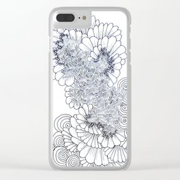 Modern Geometric Feather Artwork Clear iPhone Case