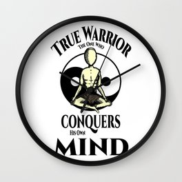 Conquer Your Mind Wall Clock