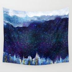 BLUE NIGHT Wall Tapestry