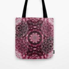 Claret Lace Mandalas Tote Bag
