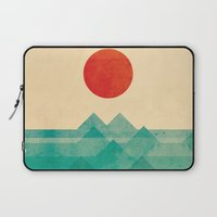 elegant Laptop Sleeves featuring The ocean, the sea, the wave by Picomodi