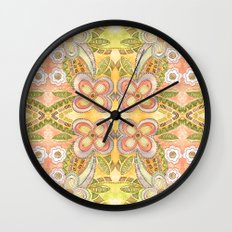 Ethnic Floral Wall Clock