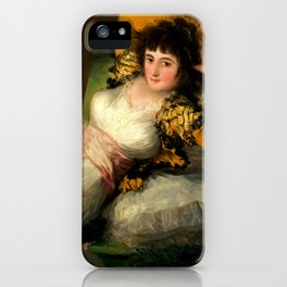 "Francisco Goya ""La maja vestida (The Clothed Maja)"" iPhone Case"