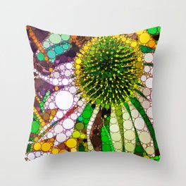 Prickly flower to you Throw Pillow