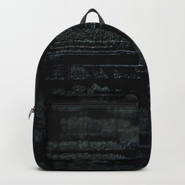 Abstract metal weathered rustic intricate pattern wall background dirty textured design Backpack