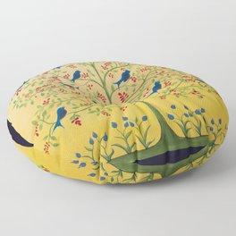 For the Blue Birds Charlene Floor Pillow
