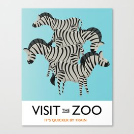 Visit the Zoo Zebra Canvas Print
