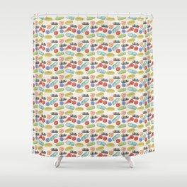 Pill Pile Shower Curtain