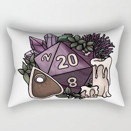 Witchy D20 Tabletop RPG Gaming Dice Rectangular Pillow