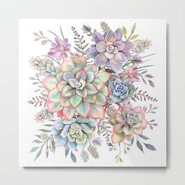 Watercolor Succulent #56 Metal Print