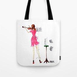 The Violin Player - Fashion Illustration Tote Bag