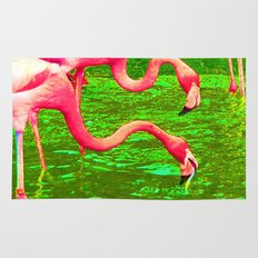 Flaming Flamingo Rug