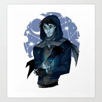 grantaire Art Prints featuring MOONLIGHT BENEATH : GRANTAIRE by Cy-lindric
