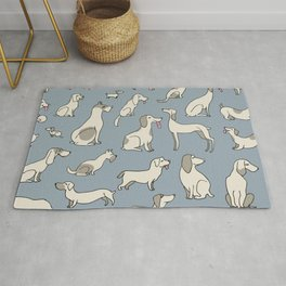 Vintage print with dogs Rug