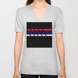 Team Colors 4...blue,red white Unisex V-Neck