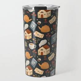 Cozy Cottage Pattern Travel Mug