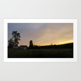 Driving Through The Countryside Art Print