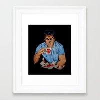 dexter Framed Art Prints featuring Dexter by Lydia Dick