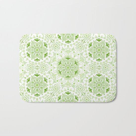 Mandala_Green Bath Mat
