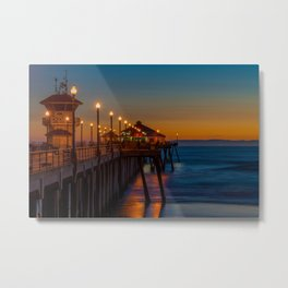 The Ghosts on the Pier Metal Print