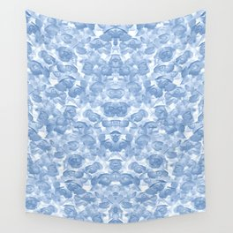 Blue Floral Seamless Pattern Wall Tapestry